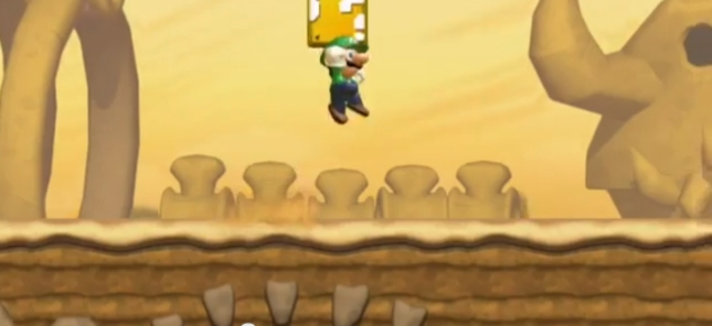 New Super Luigi U Gameplay Screenshot Luigi In Action