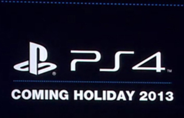 PS4 Release Date Holiday 2013