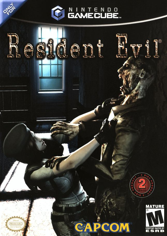 Resident Evil Remake Cover Art GameCube Box USA