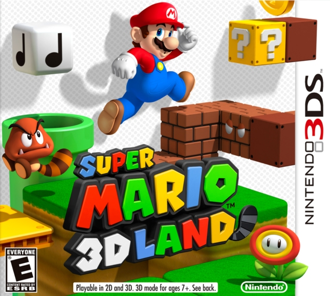 Super Mario 3D Land Cover Artwork 3DS Box