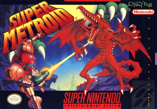 Super Metroid Cover Artwork USA Box