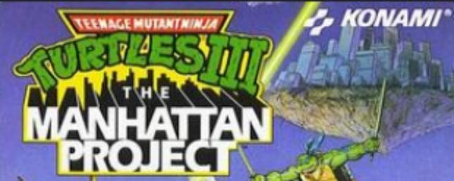 Turtles 3 NES Manhattan Project Logo