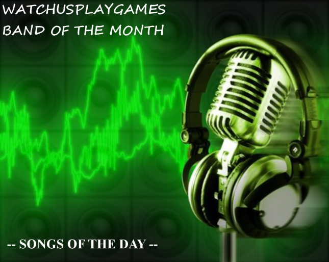 WatchUsPlayGames Band of the Month Songs of the Day Microphone Headphones Banner Art