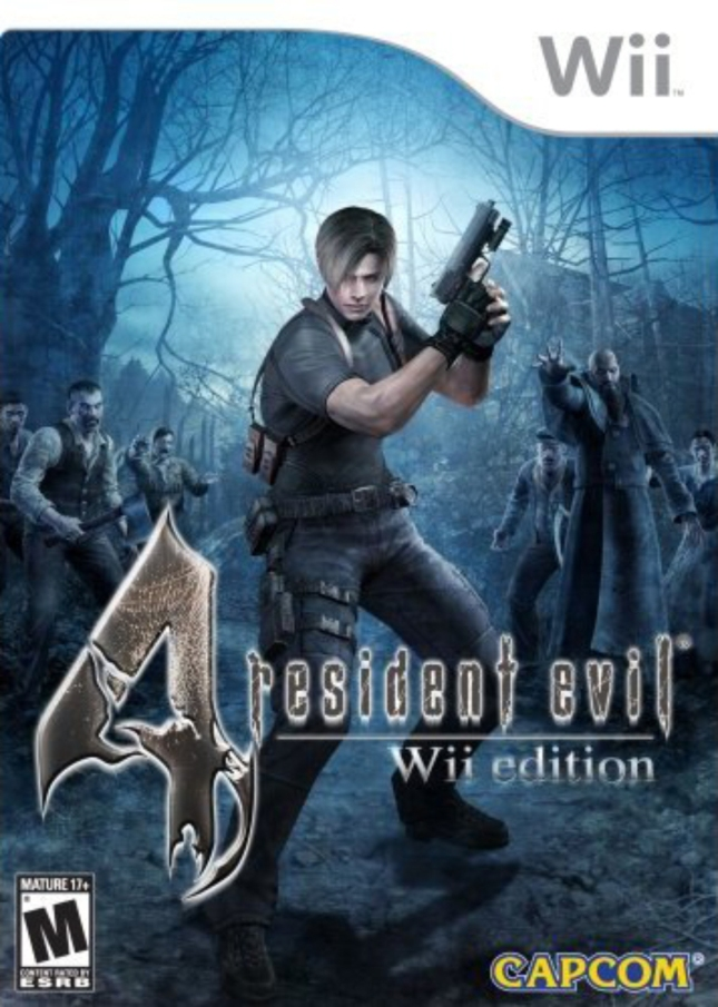 Wii Resident Evil 4 Cover Artwork Box (USA)