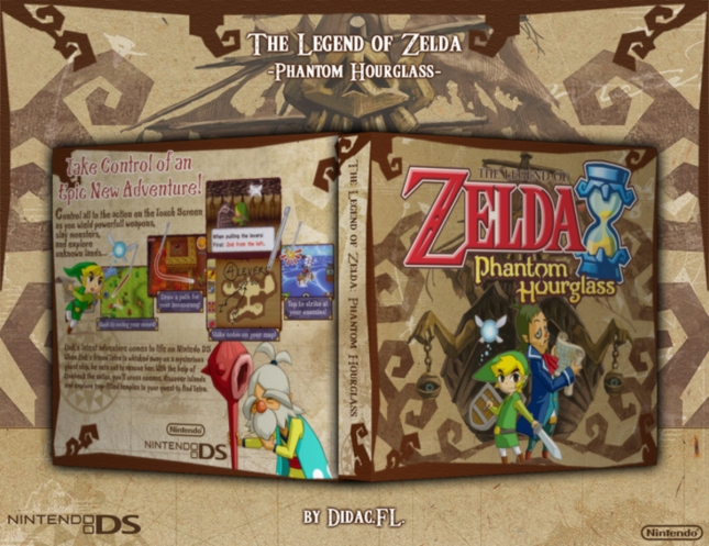 Zelda Phantom Hourglass Cover Box Art Wallpaper DS (USA)