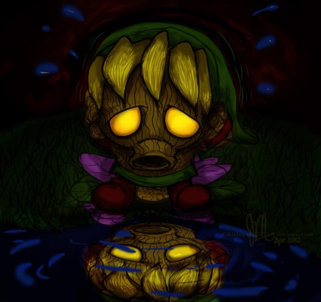 Epic Deku Link Wallpaper Zelda Artwork