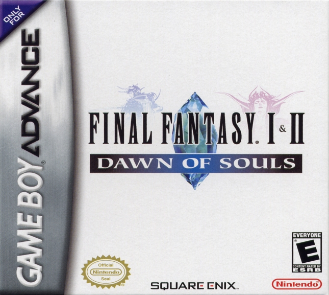 Final Fantasy I & II Dawn of Souls GBA Cover Box Artwork