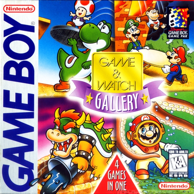 Game & Watch Gallery 1 Cover box Artwork Game Boy