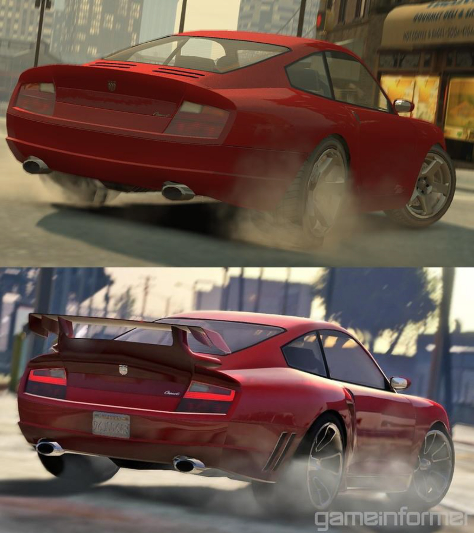 ... Photo of the Day – GTA IV Compared To GTA V Red Car Screenshot