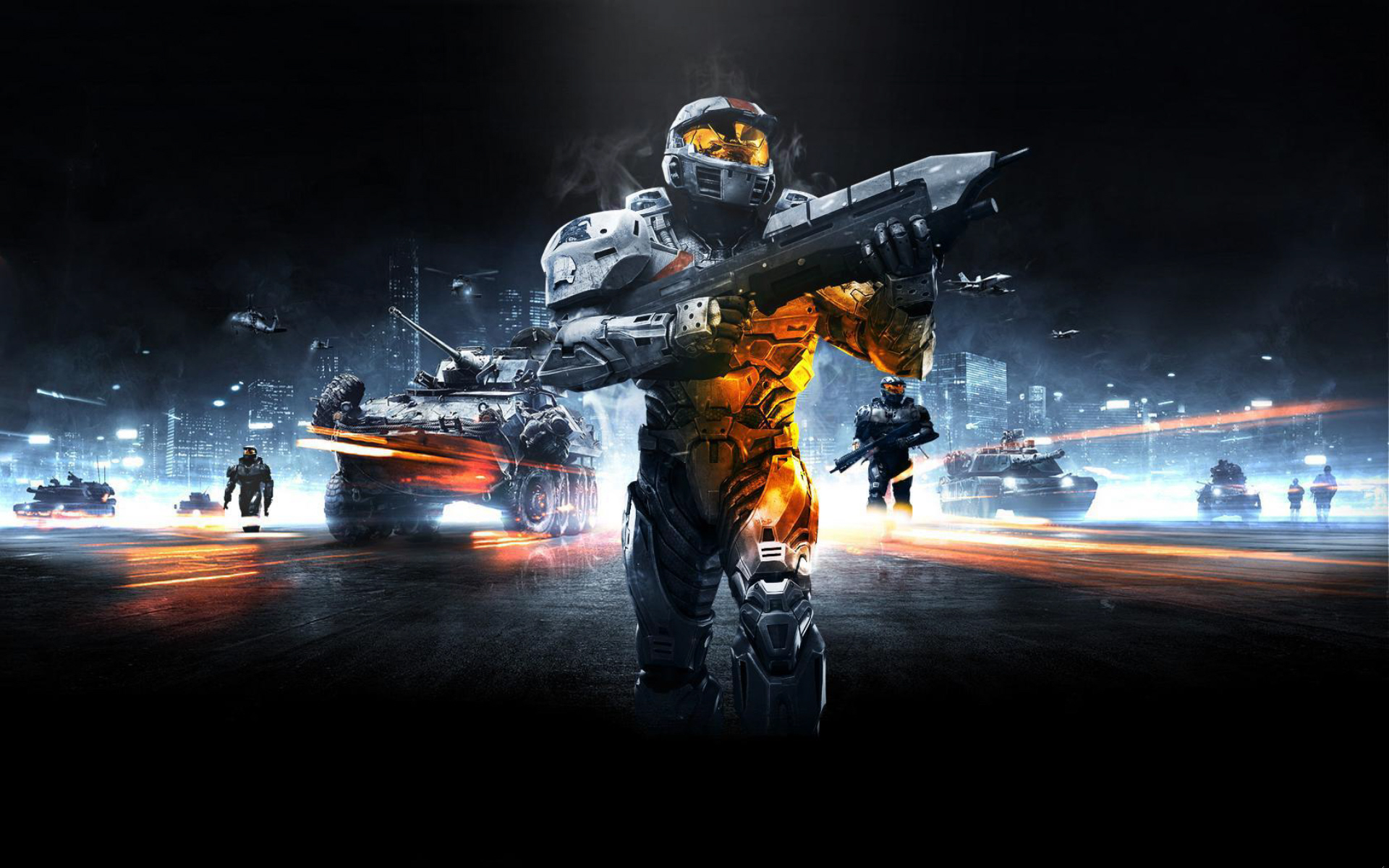 master chief battlefield 3 halo wallpaper watch us play games