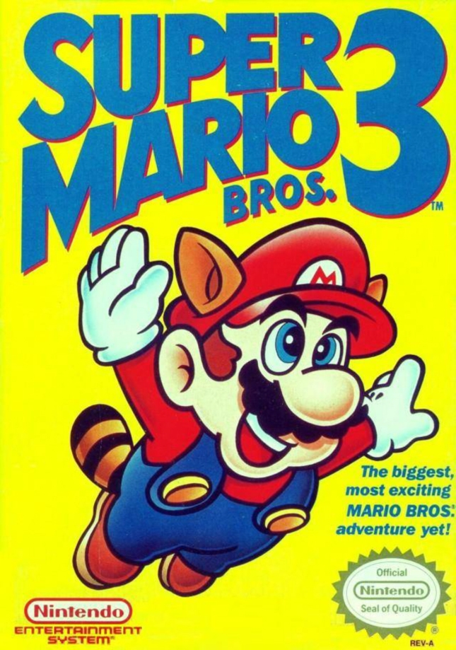 NES Super Mario Bros. 3 Front Cover of Box Artwork