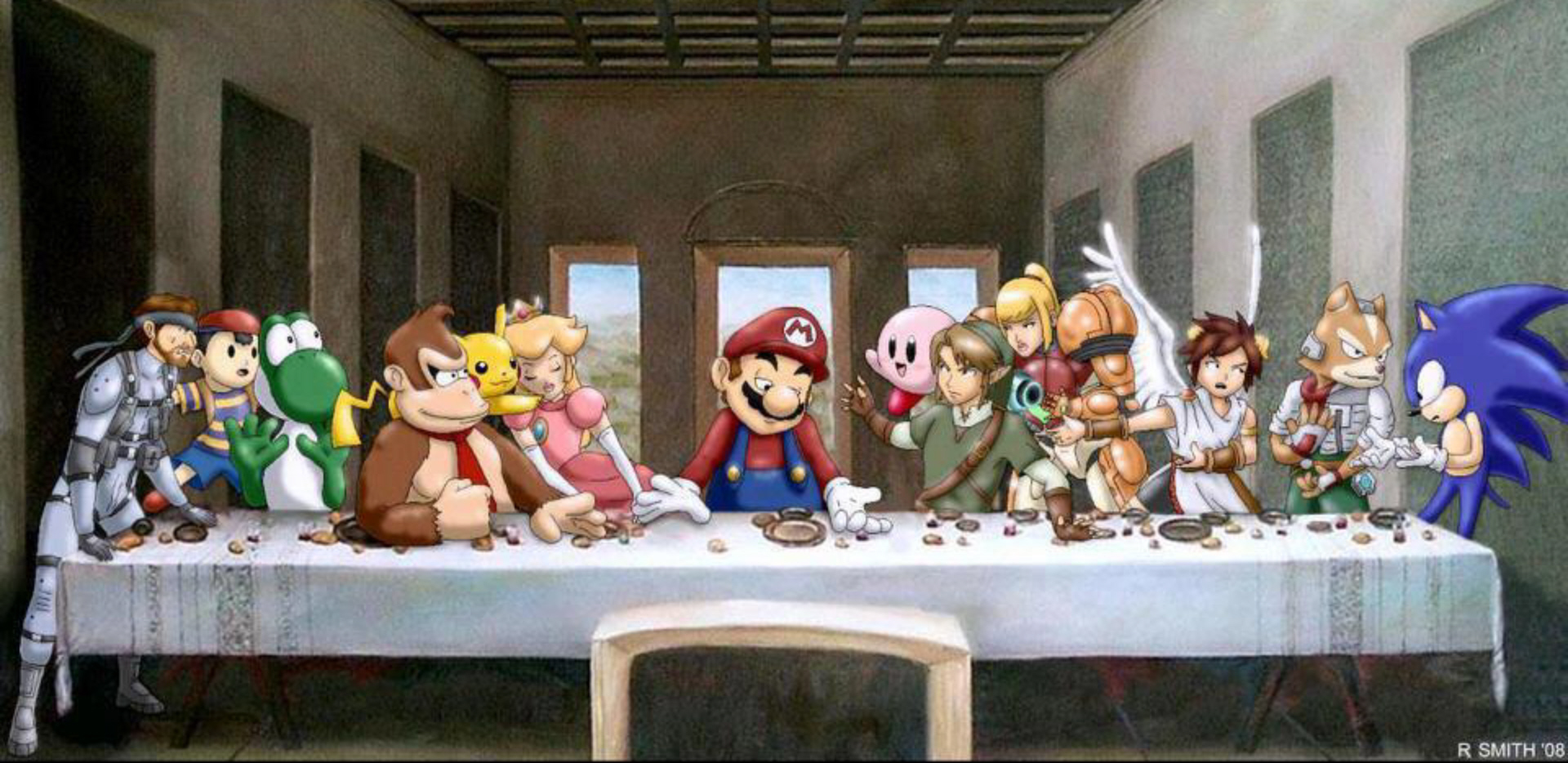 Nintendo last supper story artwork wallpaper watch us - American history x dinner table scene ...