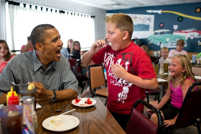 Obama Pie Kid (Happy Pi Day 2013)