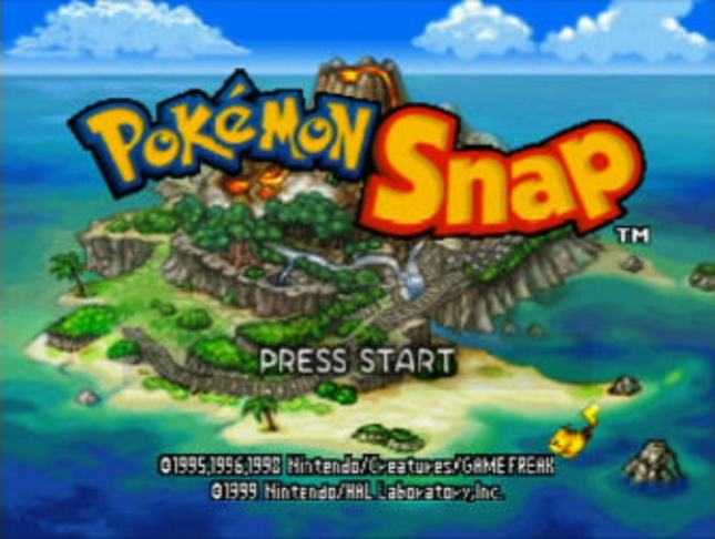 Pokemon Snap N64 Title Screenshot