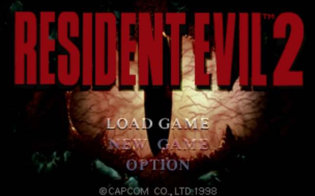 Resident Evil 2 Logo Titlescreen
