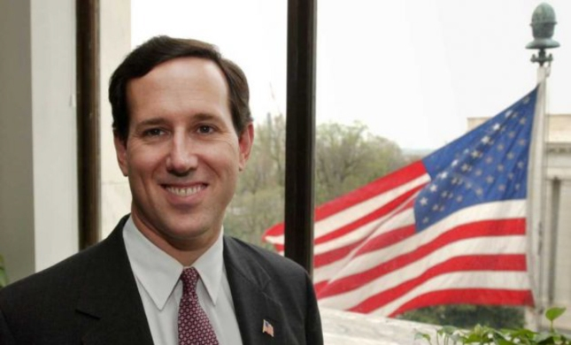 Rick Santorum American Flag Photo