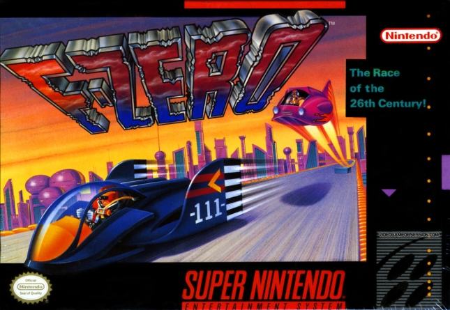 SNES F-Zero Cover Box Art Front USA Super Nintendo Artwork