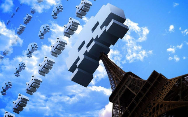 Space Invaders For Real Paris France Wallpaper