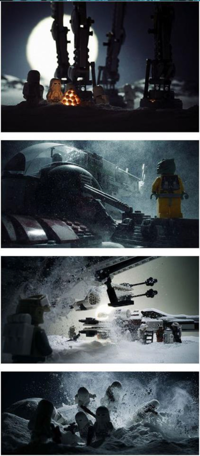 Star Wars Scenes Lego Cinematics Artwork