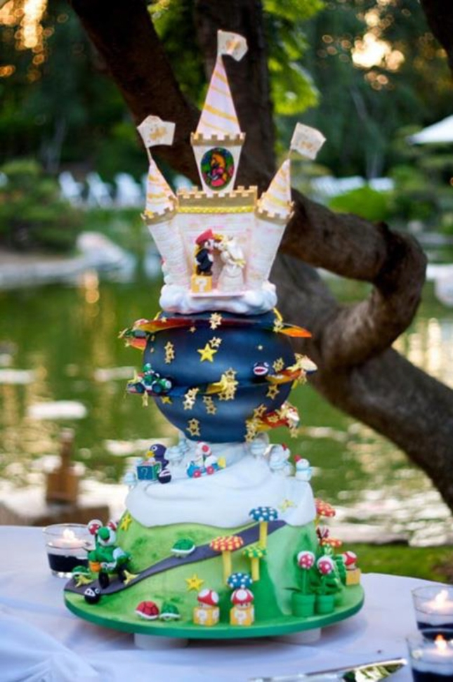 Super Mario Wedding Cake Is Epic