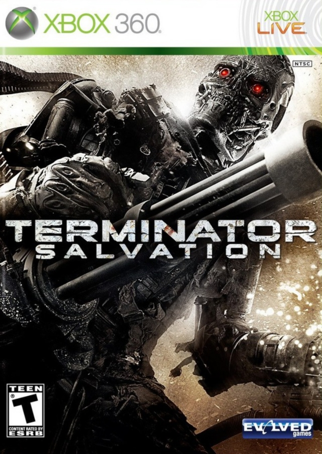 Terminator Salvation Videogame Cover Xbox 360 Front USA Box Artwork