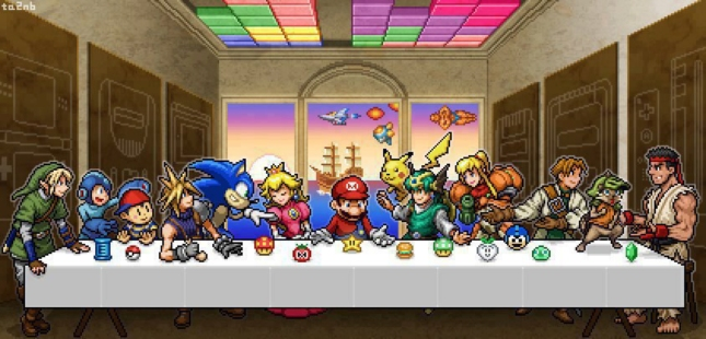 The Great Supper Game Mascots Nintendo Mario Sonic Capcom