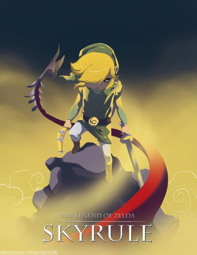 The Legend of Zelda Skyrule Epic Artwork Movie Poster