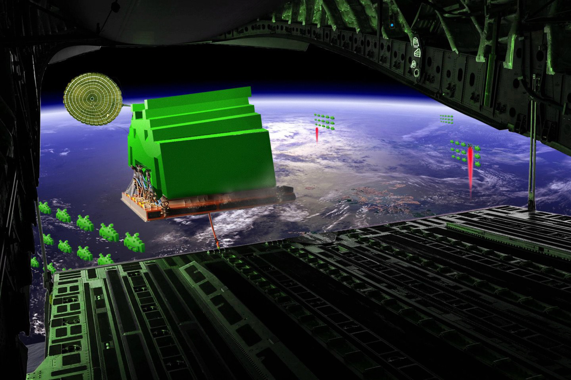 Space invaders point of view descending upon earth watch for Space invaders