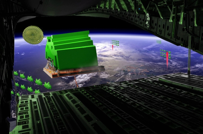 The Space Invaders Point of View Descending On Earth