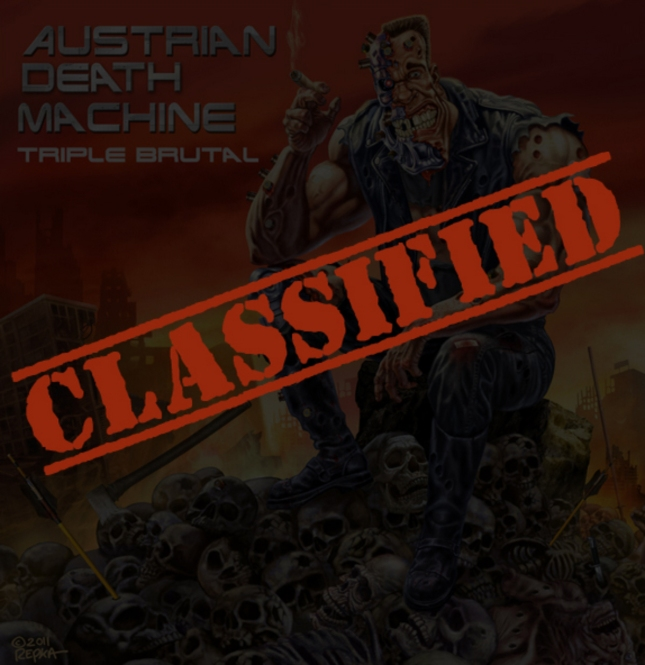 Triple Brutal Austrian Death Machine Album Cover Classified
