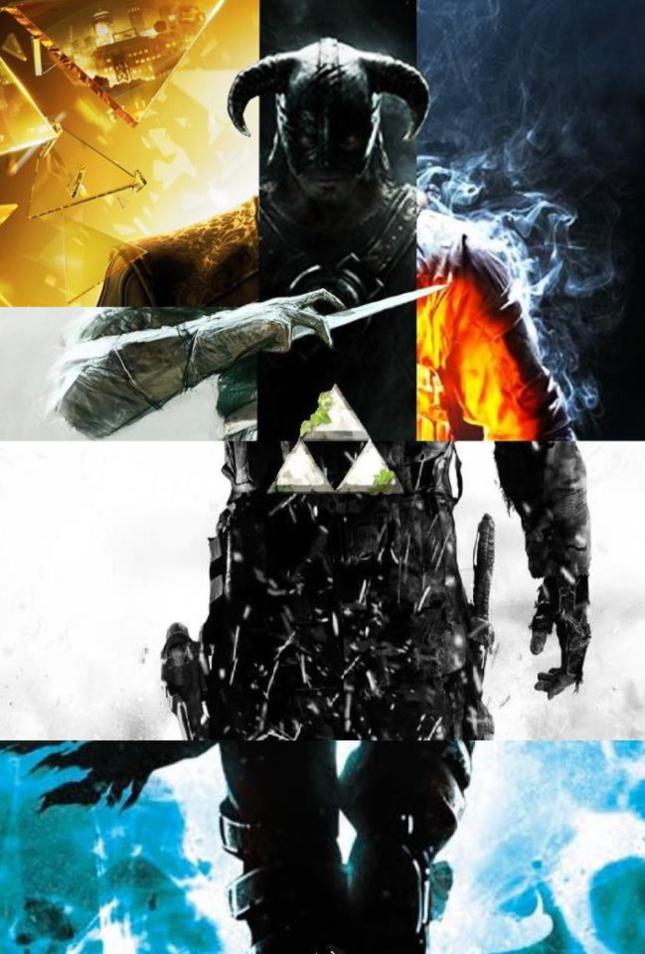 Videogame Mashups Zelda Battlefield Skyrim Poster Artwork