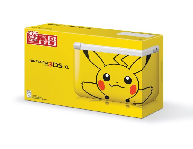Yellow Pikachu 3DS XL USA Cover Box Art