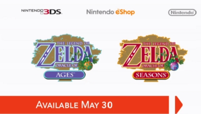 3DS eShop Zelda Oracle of Ages And Seasons Release Date May 30 2013