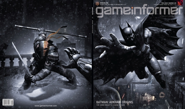 Batman Arkham Origins Game Informer Magazine Cover Artwork