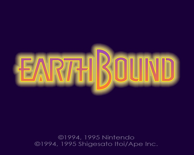 EarthBound Logo In HD