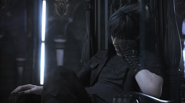 Final Fantasy Versus XIII Waiting Impatiently On Throne Screenshot Noctis