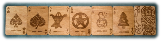 Hardwood Playing Cards Aces Themes Bibelot Games Kickstarter
