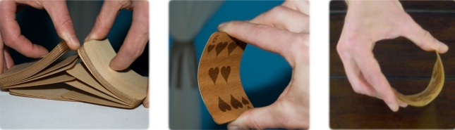 Hardwood Playing Cards Durable And Bendable Bibelot Games Kickstarter