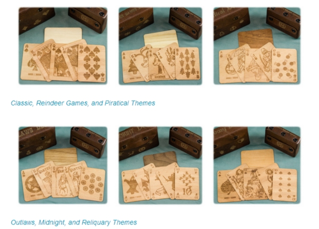 Hardwood Playing Cards Theme Decks