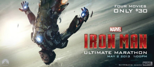 Iron Man Movie Marathon In Theaters May 2 2013!