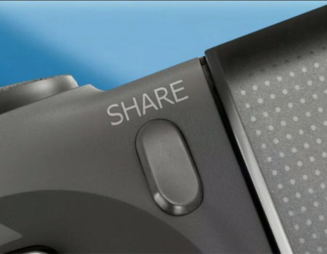 PlayStation 4 Share Button Photo