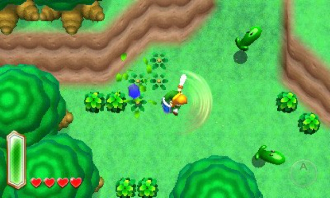 Zelda Link to the Past 3DS Sword Spin Screenshot