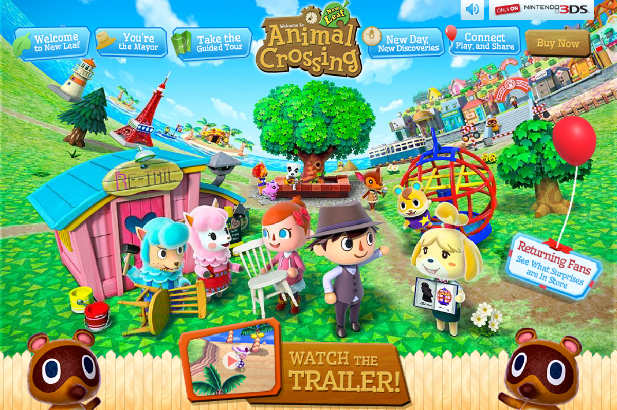 Animal crossing 3ds watch us play games for Animal crossing new leaf arredamento
