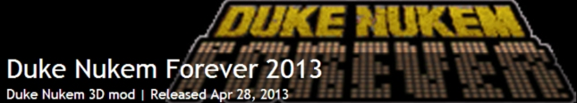 Duke Nukem Forever 2001 Graphics Mod Banner Artwork