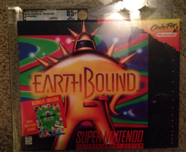 EarthBound New Boxed Sealed Graded Ebay $5000