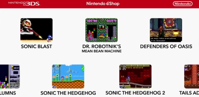 Game Gear Collection 3DS eShop Screenshots Artwork Nintendo Direct May 17 2013
