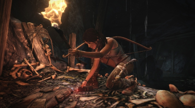 Lara Croft 2013 Tomb Raider Bones Gameplay Screenshot