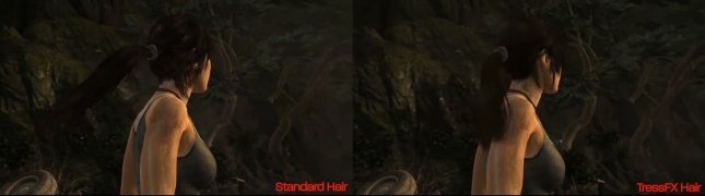 Lara Croft Hair Tomb Raider 2013 Normal vs Next Gen Screenshot Comparison In Game