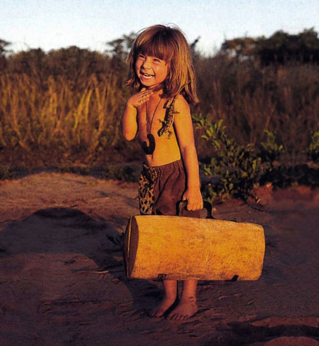 Little Lizard Girl Tippi Africa