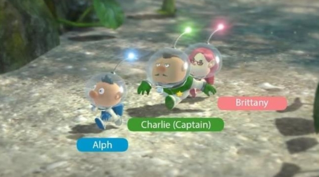 Pikmin 3 Characters Named Screenshot Alpha Charlie Brittany Shown